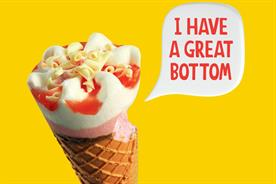 Cornetto ad part of Wall's #GoodbyeSerious campaign