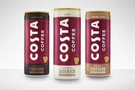 Coke takes on Starbucks in supermarket chillers with Costa iced coffee