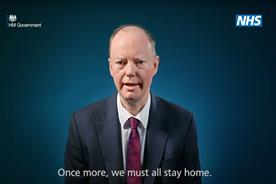 Government brings back Chris Whitty to deliver 'Stay home' TV message