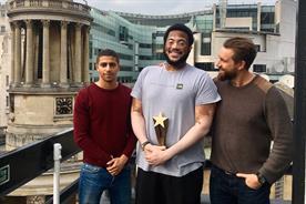 Rising Star Award winner Anthony Morrison Bowen (centre)