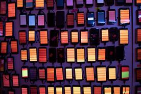 Desperados: 2,000 phones were linked up to create synchronised light show