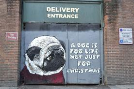 Teddy Baden's street art for the Dogs Trust
