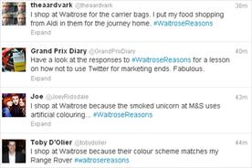 Waitrose: Twitter backlash
