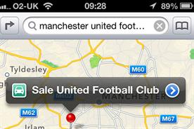 Apple Maps: swaps Man U for Sale United Football Club