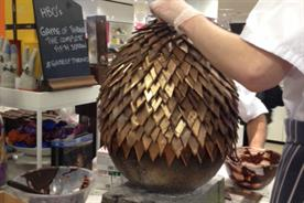 The Game of Thrones egg was assembled between 11am and 1pm