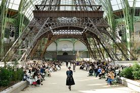 Chanel's 'Eiffel Tower' set at the Grand Palais in Paris
