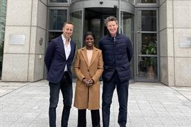 Left to right: Misha Sher, Eni Aluko and Stef Calcraft