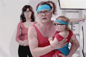 Alan Carr: the comedian spoofs Evian's 'baby & me' ad on  Channel 4