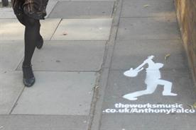 The Works: spray paints personalised messages outside TV production offices
