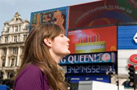 Watch consumers interact with McDonald's digital billboard at Piccadilly Circus