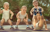 Evian: roller babies ad wins spot in the Guinness Book of Records