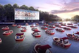 Haagen-Dazs sponsors Paris floating cinema