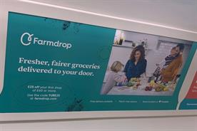 The Farmdrop ad containing bacon, eggs and butter that was rejected by TfL