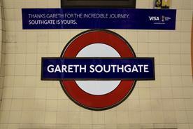 Visa renames Southgate tube station 'Gareth' to welcome England football team home