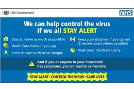 Government unveils 'Stay alert' as new coronavirus messaging
