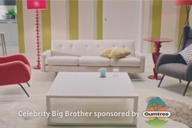 Gumtree: sponsors Celebrity Big Brother on Channel 5