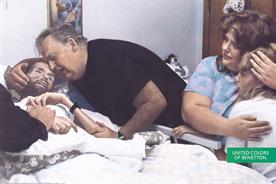 """""""David Kirby"""", 1992. A family at the deathbed of an HIV patient."""