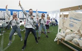 The Indesit launderette at Camp Bestival