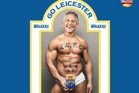 Walkers: Lineker in a campaign for the crisp brand after Leicester City's win