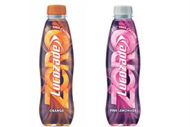 Lucozade Zero: comes in two of the brand's most popular flavours