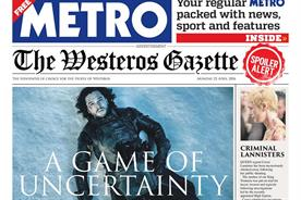 Metro: recent cover-wrap for Game of Thrones