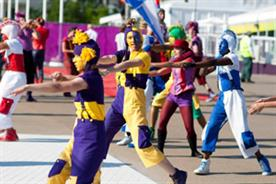 NYT performers at London 2012 ceremonies (Helen Maybanks)
