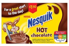 Nesquik: banned from making 'great start to the day' claim