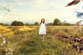 Beatific child pelted with food and drink in Persil ad