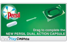 Unilever replaces Captcha words Persil game