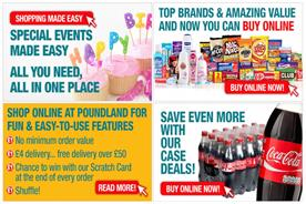 Poundland's calls to action