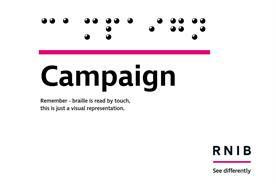 RNIB transcribes social media users' names in Braille