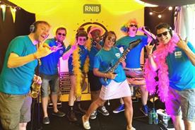Behind the scenes: RNIB's Karaoke Eye Test at Glastonbury