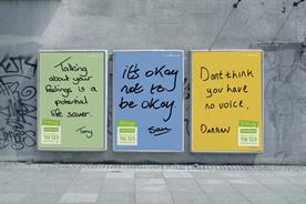 Samaritans campaign uses handwriting of real men