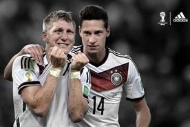 Adidas: celebrates Germany's World Cup triumph