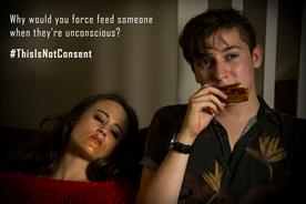 Normal life takes menacing turn in sexual-consent campaign