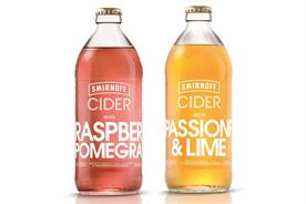 Smirnoff Cider will sell for £1.99 in the off trade and £4.50 in the on trade