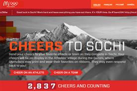 McDonald's: cheers to Sochi website