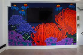 St Luke's: a mural in the new Covent Garden offices