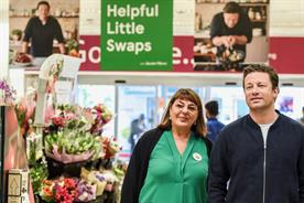 Jamie Oliver: will appear in promotional marketing but not Tesco's ads