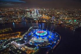 O2's #weartherose campaign: taking over the roof of The O2 in London