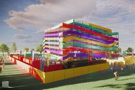 Moveable venue The Vertical Theatre can fit socially distanced audiences of 2,400