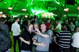 Football fans at Carlsberg's Eternal Optimist Pub