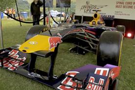 Smyle showcased a Formula One car at Sportfest