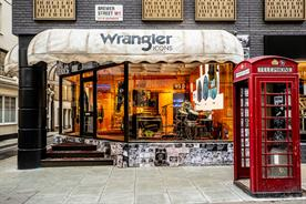 Wrangler stages 1970s-style pop-up