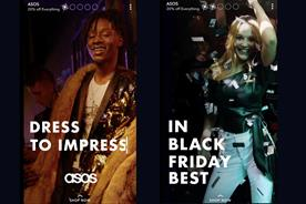 Asos and HBO trial new Snapchat promoted stories with Black Friday campaigns