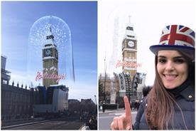 Snapchat's Big Ben Lens 'peels away' scaffolding on clock tower