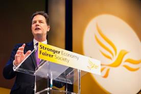 Liberal Democrats: pulls give party 9% of the UK vote, behind UKIP
