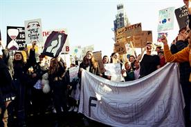 Youth climate strikers in London (picture: UK Student Climate Network)