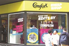 Comfort uses pop-up to educate millennials on reducing clothing waste