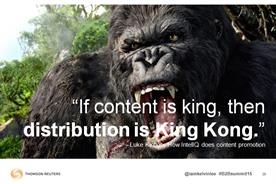 """If content is king, then distribution is King Kong."" – Kelvin Lee. Image courtesy of Kelvin Lee."